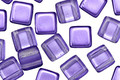 Czech Glass Electric Purple 2-Hole Tile 6mm