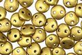 CzechMates Glass Matte Metallic Aztec Gold 2-Hole Lentil 6mm