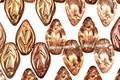 Czech Glass Autumn Shimmer Leaf Drop 5x10mm