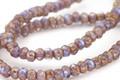 Czech Glass Bronzed Wisteria Trica Beads 2.5x4mm