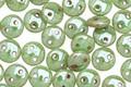CzechMates Glass Honeydew Luster Picasso 2-Hole Lentil 6mm