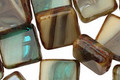 Czech Glass Sandy Beach Square 10mm