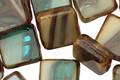 Czech Glass Sandy Beach Square 10mm