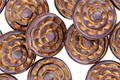 Czech Glass Bronzed Amethyst Spiral Coin 13mm