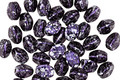 Czech Glass Black Violet w/ Silver Flecks Pinch Bead 5x4mm