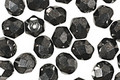 Czech Fire Polished Glass Hematite Round 6mm