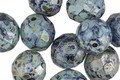 Czech Fire Polished Glass Sapphire Picasso Round 10mm
