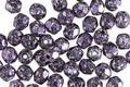 Czech Fire Polished Glass Jet w/ Metallic Purple & Silver Flecks Round 4mm
