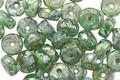Czech Glass Sea Green Picasso Disc 3x6mm