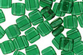 CzechMates Glass Green Emerald 2-Hole Tile 6mm