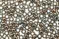 TOHO Gilded Marble Turquoise Round 8/0 Seed Bead
