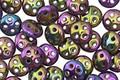 CzechMates Glass Iris Purple 4-Hole QuadraLentil 6mm