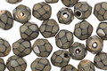 Czech Fire Polished Glass Taupe Round Snake Beads 6mm