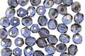 Czech Fire Polished Glass Sapphire Celsian Round 4mm