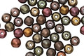 Czech Glass Autumn Metallics Mix Round Druk 4mm
