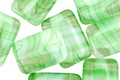 Czech Glass Mantis Green Rectangle 15x10mm