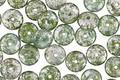 Czech Glass Emerald w/ Silver Flecks Spacer 2x6mm