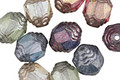 Czech Glass Luster Mix Lantern 10x8mm