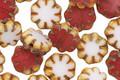 Czech Glass Raspberry Marshmallow Picasso Daisy 9mm