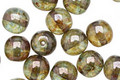 Czech Glass Luster Transparent Green Round 8mm