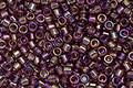TOHO Aiko Transparent Medium Amethyst Rainbow Precision Cylinder 11/0 Seed Bead