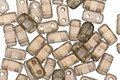 CzechMates Glass Halo Linen 2-Hole Brick 3x6mm