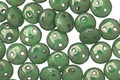 CzechMates Glass Honeydew Moon Dust 2-Hole Lentil 6mm