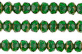 Czech Glass Bronzed Emerald Fire Polished Rondelle 3x5mm