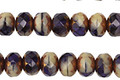 Czech Glass Bronzed Blueberry a la Mode Fire Polished Rondelle 5x7mm
