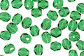 Czech Fire Polished Glass Green Emerald Round 3mm