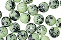 Czech Glass Matte Seafoam Green Dalmatian Round Druk 6mm