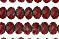 Czech Glass Pomegranite Picasso Fire Polished Rondelle 6x9mm