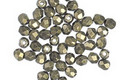 Czech Fire Polished Glass Gold Metallic Suede Round 3mm