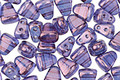 Czech Glass Luster Transparent Amethyst 2-Hole Nib-Bit 5x6mm