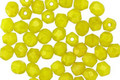 Czech Fire Polished Glass Chartreuse Round 4mm