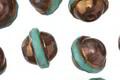 Czech Glass Bronzed Turquoise UFO 10x12mm