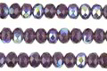 Czech Glass Amethyst AB Fire Polished Rondelle 3x5mm