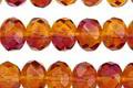 Czech Glass Rudbeckia Fire Polished Rondelle 6x8mm