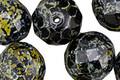 Czech Fire Polished Glass Dark Garden Round 14mm