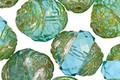 Czech Glass Beach Glass w/ Mercury Finish Turbine 15x13mm