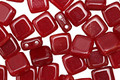 CzechMates Glass Oxblood 2-Hole Tile 6mm
