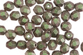 Czech Fire Polished Glass Olive Mauve Metallic Suede Round 4mm