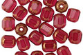 Czech Glass Bronzed Fuchsia Faceted Barrel 6x5mm