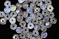 Czech Glass Crystal AB English Cut Round 3mm
