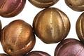 Czech Glass Autumn Metallics Melon Round 14mm