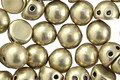 CzechMates Glass ColorTrends: Sueded Gold Cloud Dream 2-Hole Cabochon 7mm