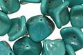 Czech Glass Turquoise 3 Petal Bellflower 9x11mm