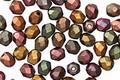 Czech Fire Polished Glass Autumn Metallics Round 4mm