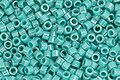 TOHO Aiko Opaque Lustered Turquoise Precision Cylinder 11/0 Seed Bead