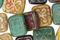 Czech Glass Safari Ornamental Rectangle 11x12mm